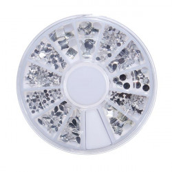 Mix Shape Sliver 3D Resin DIY Nail Art Decoration Wheels