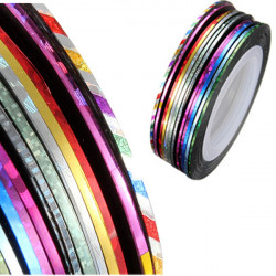 Mixed 12 Colors Nail Art Decoration Tape Line Striping Rolls Sticker