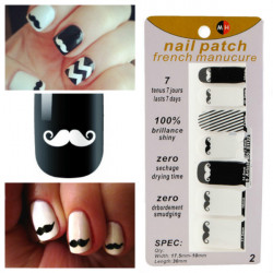 Moustache Nail Art Decal Decoration Sticker