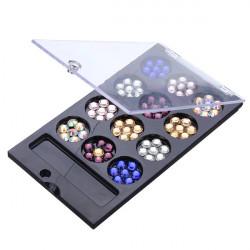 Multi-color Round Nail Art Glitter Crystal Rhinestone Phone Decoration