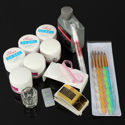 Nail Art Acrylic UV Gel Brushes Pen Manicure Tool Kit Set
