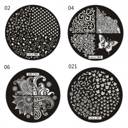 Nail Art Image Stamp Plates Polish Stamping Template DIY