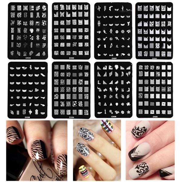 Nail Art Image Stamp Plates Polish Stamping Template DIY Tips Design Nail Art