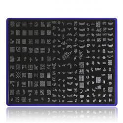 Nail Art Image Stamp Plates Polish Stamping Template Stencil DIY