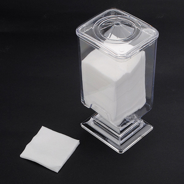 Nail Art Polish Remover Cotton Pad Holder Case Container Nail Art