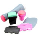 Nail Art Scraper Stamper Manicure Image Tool Set DIY Nail Art
