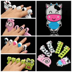 Nail Art Soft Sponge Foam Finger Toe Separators Pedicure Manicure