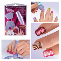 Nail Art Stamp Stamping Kit DIY Design Polish Design Set