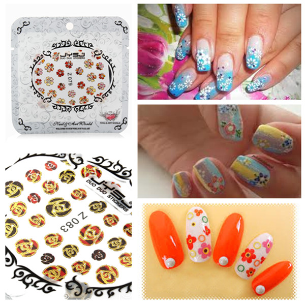 Nail Art Sticker Colour Flower Decal Foil Tips Decorations Nail Art