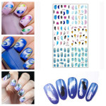 Nail Art Tips Swan Feather Water Transfer Decal Sticker Nail Art