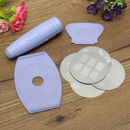 Nail Art Tools Stamper Scraper Decals DIY Kit Set Decoration Plate 2021