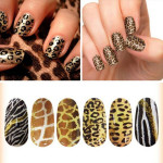 Nail Decals Leopard Tiger Snake Print Animal Water Transfer Stickers