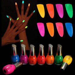 Noctilucent Fluorescent Nail Polish Lacquer Neon Glow In Dark