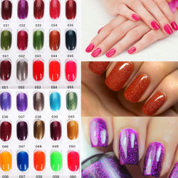 OUJINGJIA 031-060 Glitter&Pure Colors Soak Off UV Gel Nail Polish