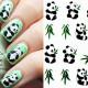 Panda Pattern Design Water Decals Transfers Nail Sticker