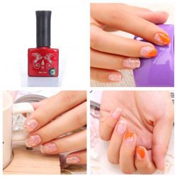 Phototherapy Snowflake Barbie Glue Nail Art Soak Off UV Gel Polish