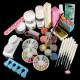 Powder Liquid Glitter Strip Nail Art UV Gel Tips Full Set 2021