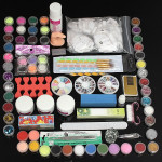 Pro 88 Pcs Plastic Box Nail Art Manicure Acrylic Powder Tip Tool Set Nail Art