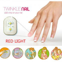 Red Light NFC Nail Sticker Flash LED Intelligent Decal Party Club
