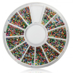 Shiny Nail Art Decoration Glitter Rhinestones Beads Wheel