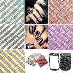 Square Mosaic Decal Design Glitter Nail Art Sticker Nail Art