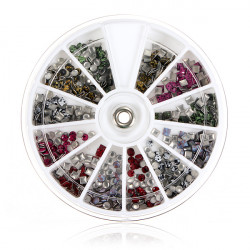 Square Round Shape Acrylic Nail Art Decoration Wheel