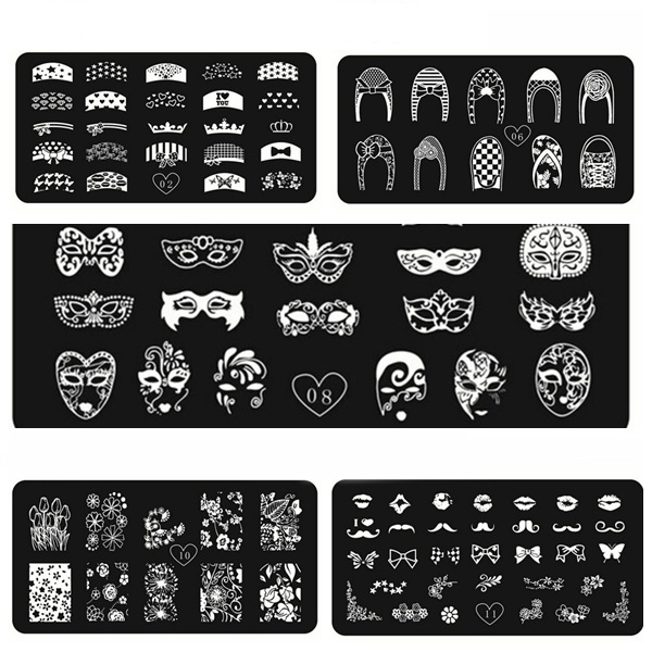 Stainless DIY Nail Art Image Stamping Plate Stamp Image Template Nail Art
