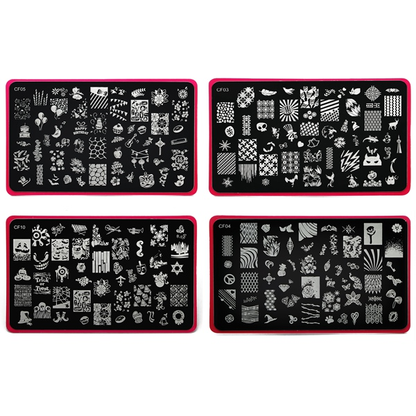 Stainless Manicure Nail Art Stamping Template Image Stamp Plate Nail Art