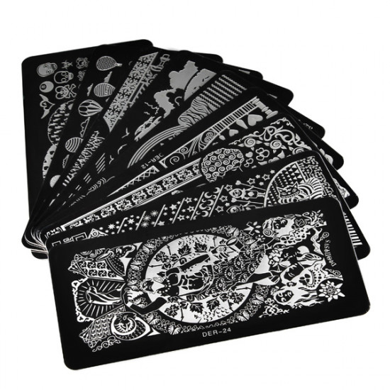 Stainless Nail Art Image Stamp Stamping Plates Manicure Template 2021