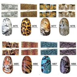 Tiger Snake Nail Art Sticker Design Nail Polish Decal Stickers