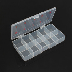 Transparent Empty Nail Art Tips Storage Box Rhinestone Beads Gem Case
