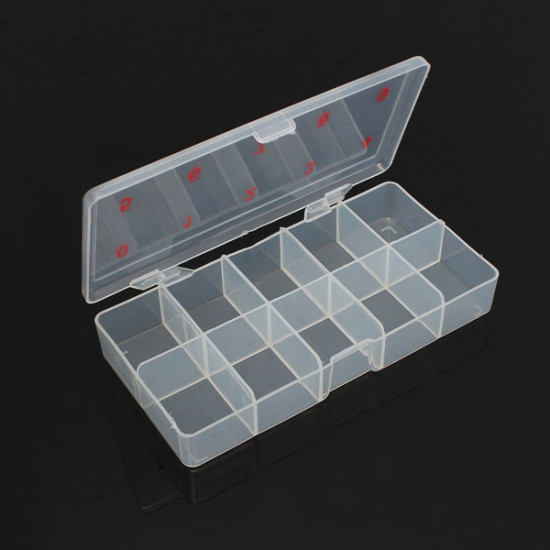 Transparent Empty Nail Art Tips Storage Box Rhinestone Beads Gem Case 2021