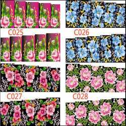 Water Transfer Full Cover Flower Decal Art Stickers