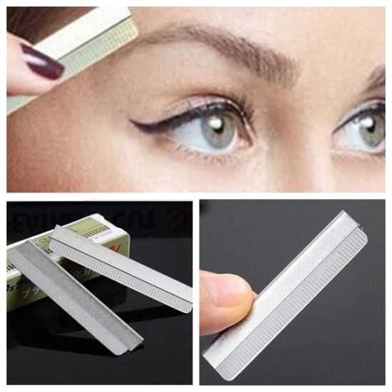 10 pcs Stainless Steel Face Hair Shaving Eyebrow Razor Blades 2021