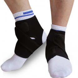 2Pcs Elastic Neoprene Ankle Protection Pad Sport Support Brace