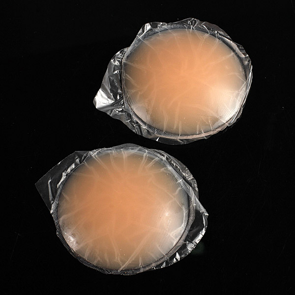 2 Round Skin Adhesive Reusable Silicone Nipple Cover Bra Pad Personal Care