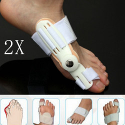 2 pcs Big Toe Bunion Straightener Splint Corrector