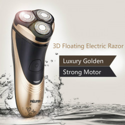 3D Floating Head RQ725 Golden Electric Razor Shaver