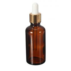 50ml Essential Oil Amber Glass Pipette Bottle Eye Dropper Cap