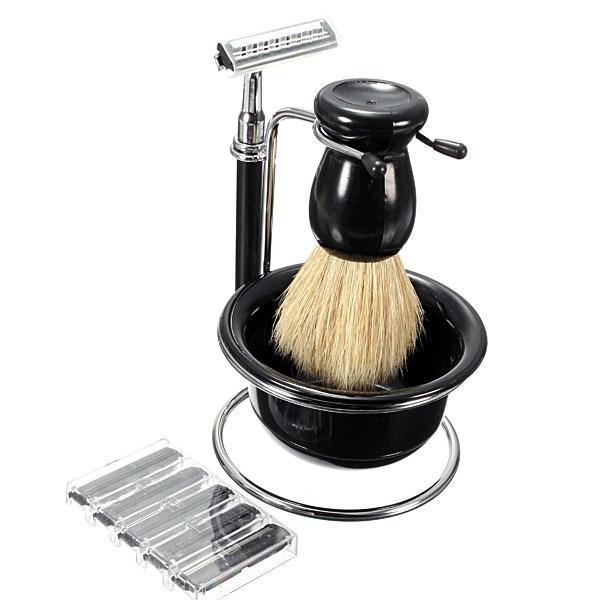 5 In 1 Manual Razor Set Shaving Brush Bowl Stand 5 Blades Shavers & Hair Removal