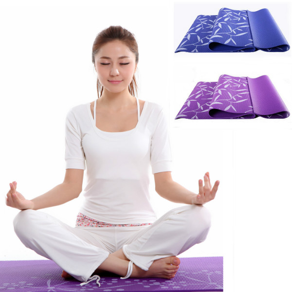 5MM PVC Printing Yoga Mat Moistureproof Blanket 2 Colors Personal Care