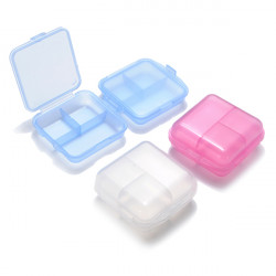 6 Compartments 2 Layer Portable Pill Storage Box Organizer