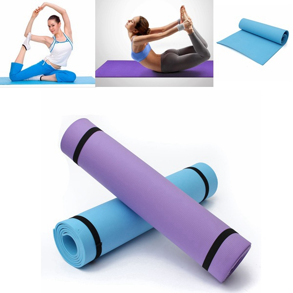 6mm EVA Exercise Foaming Elasticity Yoga Mat Non Slip Fitness Personal Care