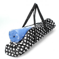 Black White Dot Portable Yoga Mat Bag Waterproof Backpack