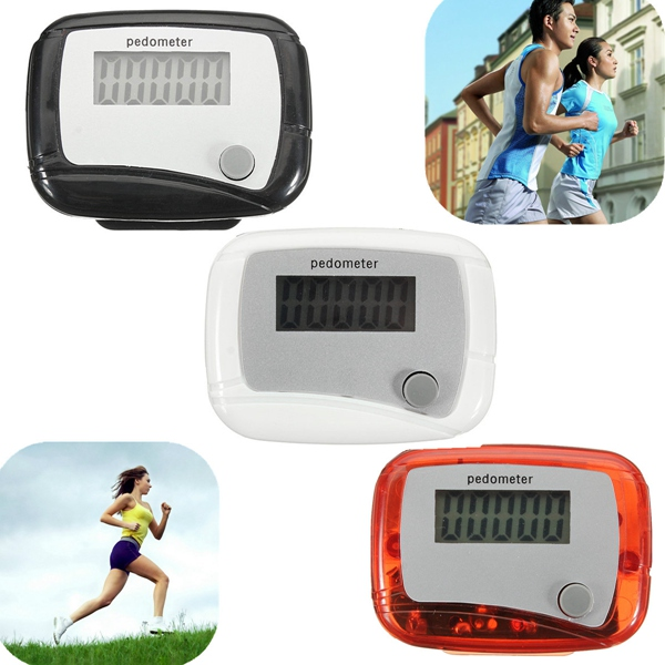 Digital LCD Step Pedometer Fitness Walking Distance Running Counter Personal Care
