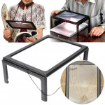 Foldable Full Page Large Magnifier 3X With LED Light For Reading Personal Care