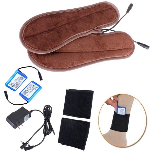 Foot Warmer Pad Rechargeable Electric Heated Insoles Personal Care