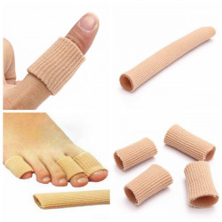 Gel Fabric-Covered Toes Fingers Tube Bunion Protector Calluses Corns