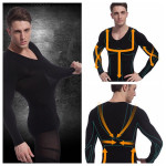 Men Slimming Body Shaper Long Sleeve Underwear Corset Shirt Personal Care