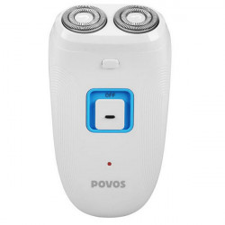 POVOS PW919 Dual-blade Rotary Heads Electric Rechargeable Beard Razor